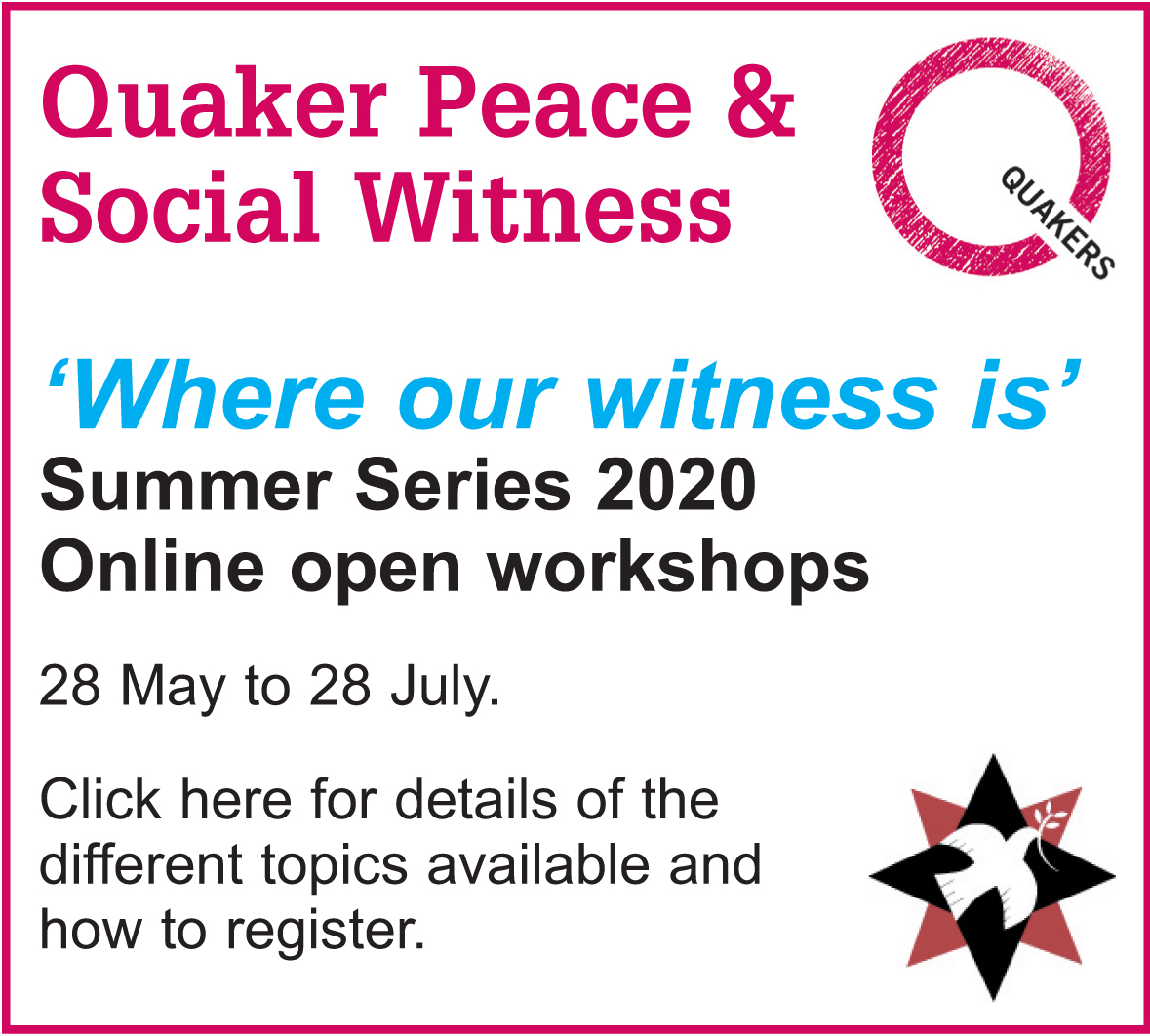 QPSW Summer Workshops